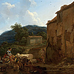 A Landscape With Cattle At A Watering-place, Nicolaes (Claes Pietersz.) Berchem
