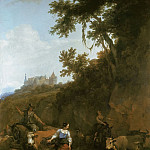 Landscape with Bentheim Castle, Nicolaes (Claes Pietersz.) Berchem