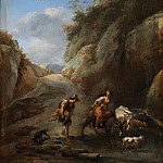Nicolaes (Claes Pietersz.) Berchem - Mountain stream