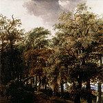 Nicolaes (Claes Pietersz.) Berchem - A Road through a Wood