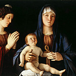 Giovanni Bellini - Virgin And Child Between St Catherine And St Mary
