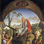 Saints Christopher, Jerome and Louis of Toulouse, Giovanni Bellini