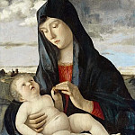 Madonna and Child in a Landscape, Giovanni Bellini