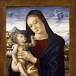 Eugene Francois Marie Joseph Deveria - Madonna and Child [attributed]