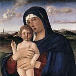 Mary with the Jesus, giving a blessing, Giovanni Bellini