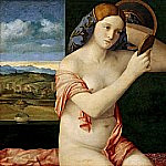 Naked Young Woman in Front of the Mirror, Giovanni Bellini