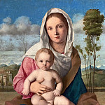 The Madonna and Child in a landscape, Giovanni Bellini