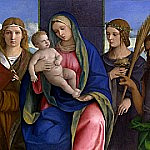 Giovanni Bellini - Madonna and Child with Saints [and Workshop]