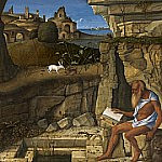Saint Jerome Reading, Giovanni Bellini