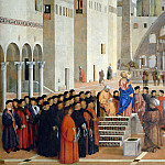 Saint Mark Preaching in Alexandria , Giovanni Bellini