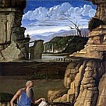 Giovanni Bellini - Saint Jerome reading in a Landscape