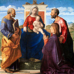 Giovanni Bellini - Virgin and Child with Saint Peter, Saint Mark and a Donor