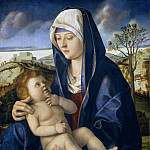 Madonna and Child in a Landscape [workshop of], Giovanni Bellini