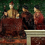 The Doge Leonardo Loredan with four Nobili, Giovanni Bellini