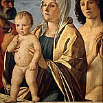 Giovanni Bellini - Madonna and Child with Saints Peter and Sebastian