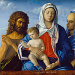 Giovanni Bellini - Madonna and Child, John the Baptist and St. Elizabeth