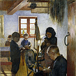 Gustav Oskar Bjorck - In the Village School