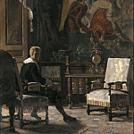 Gustav Oskar Bjorck - Gripsholm Castle, interior of the King's bedside room