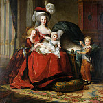 Marie-Antoinette de Lorraine-Habsbourg, Queen of France, and her children, De Schryver Louis Marie