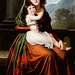 Élisabeth Louise Vigée Le Brun - The Countess von Schonfeld with Her Daughter