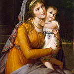 Élisabeth Louise Vigée Le Brun - Portrait of Countess Anna Stroganova with Her Son