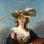 Élisabeth Louise Vigée Le Brun - Self Portrait in a Straw Hat