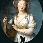 Élisabeth Louise Vigée Le Brun - Portrait of a Young Woman Playing a Lyre