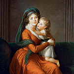 Élisabeth Louise Vigée Le Brun - Portrait of princess Alexandra Golitsyna and her son Piotr
