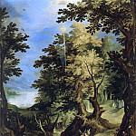 Paul Bril - Landscape with the Baptism of Christ and the Sermon of Saint John the Baptist