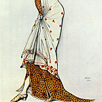 Leon Bakst - design for a ladys dress 1912