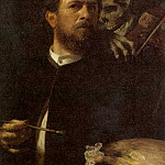 Arnold Böcklin - Self-Portrait with Death Playing a Fiddle 2
