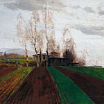 Arnold Böcklin - Plowed field in early spring