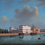 Joseph Anton Koch - View of the Pontoon Bridge from the Summer Garden to the Marble Palace and the surrounding area of St. Petersburg