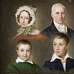 Portrait of the artist's father, wife, son and foster person, Emilius Baerentzen