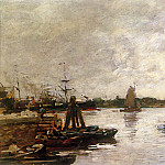 Eugene Boudin - The Spanish quay in Rotterdam