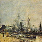 Eugene Boudin - bordeaux harbor 1874