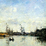 Eugene Boudin - dunkirk (entrance to the harbor) 1889