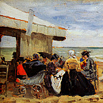 Eugene Boudin - On the beach