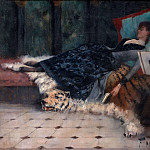 Couch with resting lady, Ferdinand Max Bredt