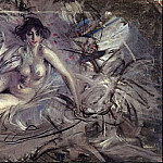Nude of Young Lady on Couch, Giovanni Boldini