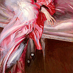Portrait Of Madame Juillard In Red, Giovanni Boldini