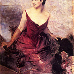 Giovanni Boldini - Countess de Rasty Seated in an Armchair