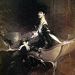 Consuelo Duchess of Marlborough with Her Son Ivor Spencer Churchill , Giovanni Boldini