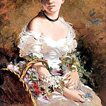 Lady with Flowers 1870, Giovanni Boldini