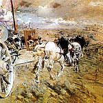 Giovanni Boldini - The Tombereau at the Porte dAsieres