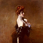 Portrait Of madame Pages In Evening Dress, Giovanni Boldini