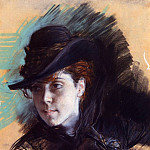 Girl in a Black Hat , Giovanni Boldini