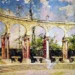 The Collonade in Versailles, Giovanni Boldini