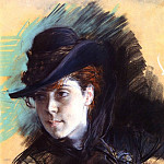 Girl In A Black Hat, Giovanni Boldini