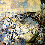 Giovanni Boldini - Two White Horses 1881–86